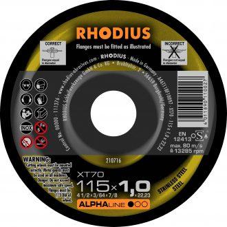 Rhodius 115mm Cutting Disc XT70