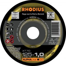 Rhodius 125mm Cutting Disc XT70