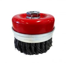Josco 100mm XHD Steel Twistknot Cup Brush with Skirt