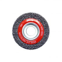Josco 100mm x 25mm Multi-Bore Crimped Wheel Brush
