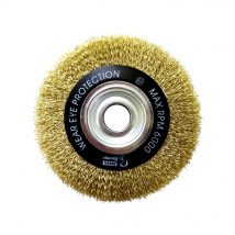 Brumby 150mm x 20mm Crimped Multi-Bore Wheel Brush
