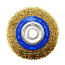 Tomcat 150mm x 20mm Multi-Bore Crimped Wheel Brush