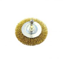 Brumby 75mm Spindle-Mounted Crimped Wheel Brush