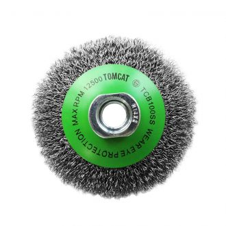 Tomcat 100mm Crimped 316 Stainless Steel Bevel Brush