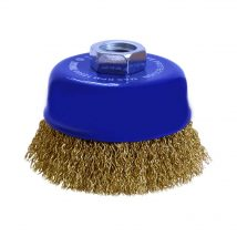 Tomcat 75mm Brass Coated High Carbon Steel Wire Cup Brush
