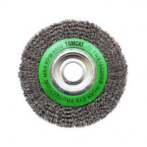 Tomcat 150mm Crimped Stainless Steel Wheel Brush