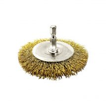 Brumby 100mm Spindle-Mounted Crimped Wheel Brush