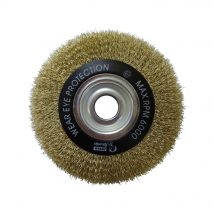 Brumby 150mm x 12mm Crimped Multi-Bore Wheel Brush