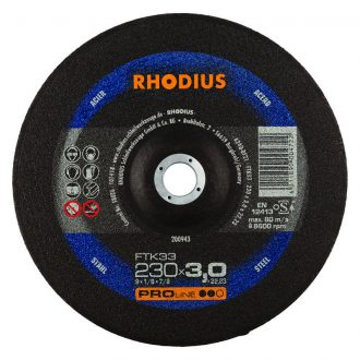 Rhodius 230mm Cutting Disc FTK33