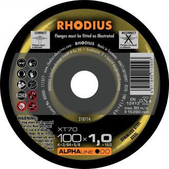 Rhodius 100mm Cutting Disc XT70