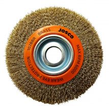 150mm x 19mm Multi-Bore Brass Crimped Wheel Brush