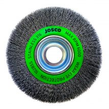 150mm x 19mm Multi-Bore Stainless Steel Crimped Wire Brush