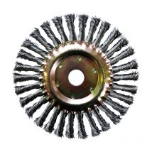 Josco 200mm x 13mm Multi-bore Twistknot Wheel Brush - 0.50mm Wire