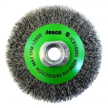 Josco 100mm Stainless Steel Crimped Bevel Brush