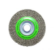 150mm x 25mm Stainless Steel Multi-Bore Crimped Wheel Brush