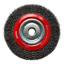 200mm x 38mm Multi-Bore Crimped Wheel Brush